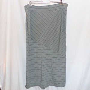 Pure Energy Striped Maxi Skirt Size 3X EUC LN